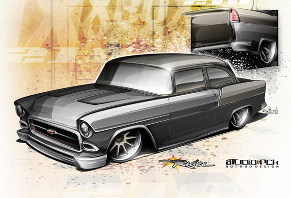 street machine 1955 chevy