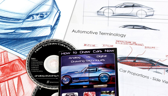 how to draw cars dvd package