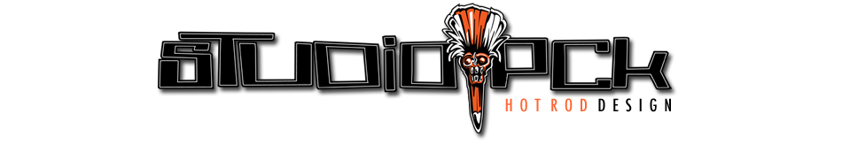 studio pck hot rod design logo