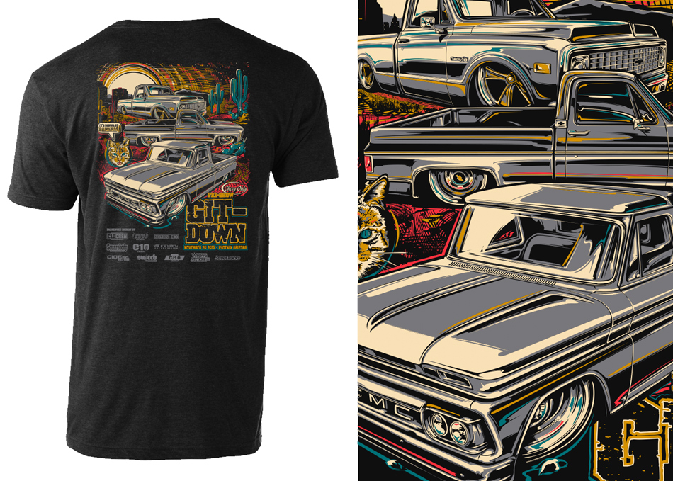 car show and event t-shirt art and design by Brian Stupski and Problem Child Kustoms Studio