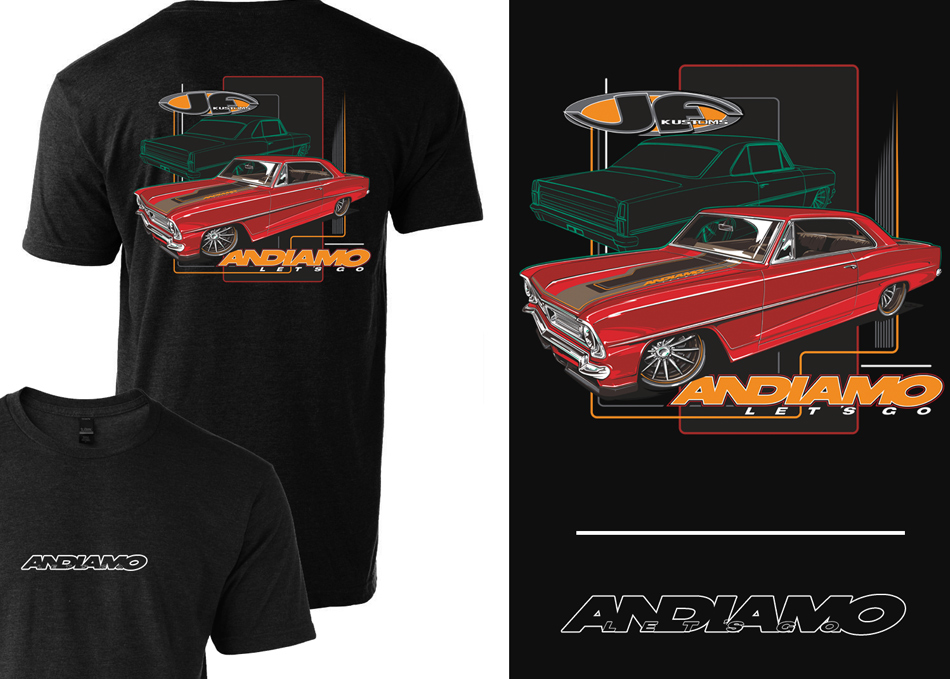 JF KUSTOMS ANDIAMO T-SHIRT