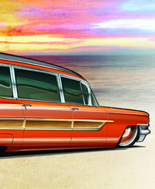 automotive artwork by automotive artist and designer Brian Stupski