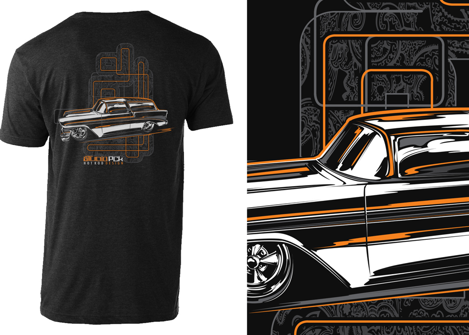 self-promotional t-shirt design and vector illustration