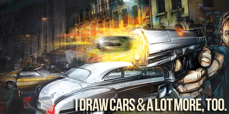 Automotive Art and Illustration by Brian Stupski of Problem Child Kustoms Studio