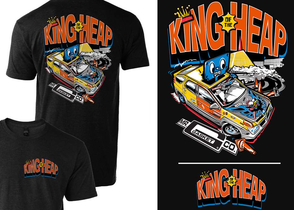 king of the heap racing series t-shirt design